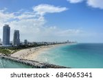 aerial view of south miami...   Shutterstock . vector #684065341