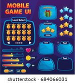 mobile game ui. game interface. ...