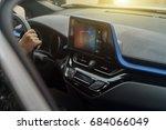 car computer navigation system | Shutterstock . vector #684066049