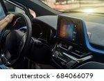 car computer navigation system | Shutterstock . vector #684066079