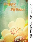 many colorful baloons in the... | Shutterstock . vector #684067027