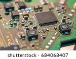computer chip close up. hi tech ... | Shutterstock . vector #684068407
