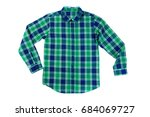 Green With A Blue Checkered...