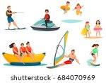 summer water activities set... | Shutterstock .eps vector #684070969