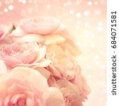 roses background | Shutterstock . vector #684071581