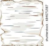 birch bark background frame... | Shutterstock .eps vector #684071587