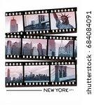 photo print new york... | Shutterstock . vector #684084091