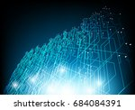 vector abstract circuit board... | Shutterstock .eps vector #684084391