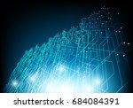 vector abstract circuit board...   Shutterstock .eps vector #684084391