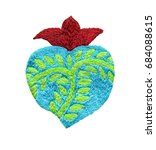 sacred heart embroidery ... | Shutterstock . vector #684088615