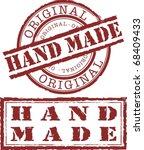 hand made stamp | Shutterstock . vector #68409433