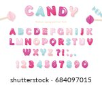 Candy Glossy Font Design....