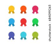colorful vector stickers icons... | Shutterstock .eps vector #684099265