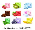 realistic set of scented... | Shutterstock .eps vector #684101731