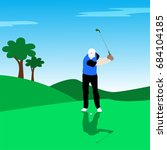 vector illustration of golf... | Shutterstock .eps vector #684104185