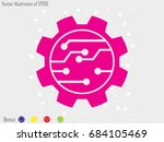 gear  icon  vector illustration ... | Shutterstock .eps vector #684105469