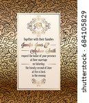 vintage baroque style wedding... | Shutterstock .eps vector #684105829