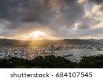 sunset view of wellington  new... | Shutterstock . vector #684107545