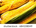 fresh corn   organic  healthy... | Shutterstock . vector #684108049