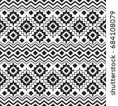 vector seamless ethnic black... | Shutterstock .eps vector #684108079