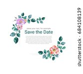 watercolor hand painted floral... | Shutterstock . vector #684108139