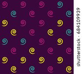 seamless geometric pattern with ... | Shutterstock .eps vector #684109939