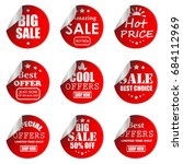 paper sale stickers collection | Shutterstock .eps vector #684112969
