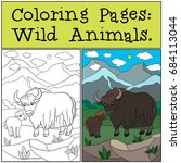 coloring pages  wild animals.... | Shutterstock .eps vector #684113044