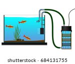 aquarium equipment. external... | Shutterstock .eps vector #684131755