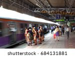 mumbai  20th june  2014. a slow ...   Shutterstock . vector #684131881