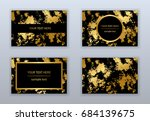 set of white  black and gold... | Shutterstock .eps vector #684139675
