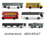 realistic set with school bus...