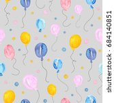 seamless pattern with... | Shutterstock . vector #684140851