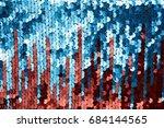 background sequin. sequin... | Shutterstock . vector #684144565