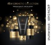 cosmetic brand design... | Shutterstock .eps vector #684146269