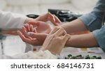 pulse diagnostic with hand on a ... | Shutterstock . vector #684146731