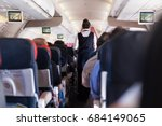 interior of commercial airplane ... | Shutterstock . vector #684149065
