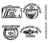 color vintage aquarium shop... | Shutterstock . vector #684154081