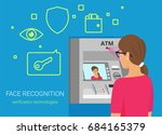 face recognition and atm... | Shutterstock .eps vector #684165379