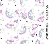 unicorn pattern illustration... | Shutterstock .eps vector #684165727