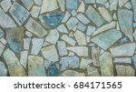 surface of a wall made of rough ... | Shutterstock . vector #684171565