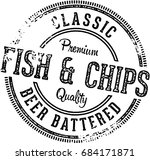 fish and chips vintage menu... | Shutterstock .eps vector #684171871