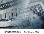 one dollar bill. macro image. | Shutterstock . vector #684172759