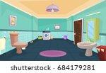 vector bathroom   illustration... | Shutterstock .eps vector #684179281