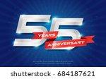 55 years anniversary background ... | Shutterstock .eps vector #684187621