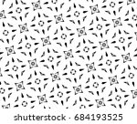 ornament with elements of black ... | Shutterstock . vector #684193525