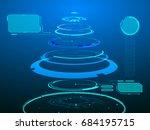hud virtual futuristic 3d rings ...