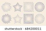 vintage sunburst starburst... | Shutterstock .eps vector #684200011