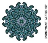 mandala. round ornament pattern.... | Shutterstock .eps vector #684201409