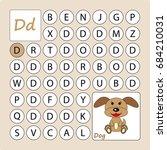 alphabetical labyrinth.... | Shutterstock .eps vector #684210031